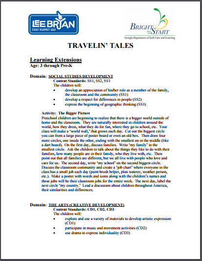 Bright From the Start Learning Extensions Travelin' Tales