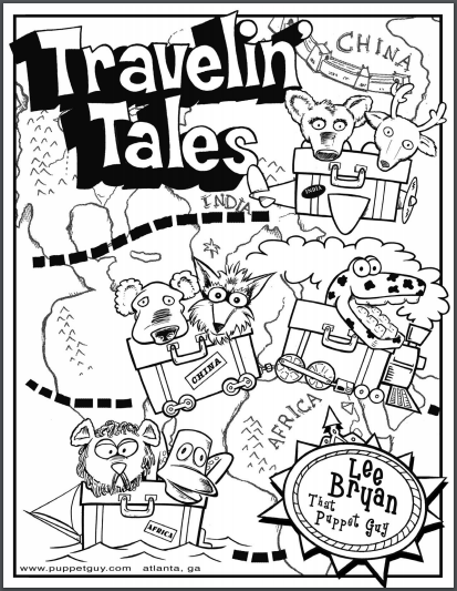 Coloring Page Travelin' Tales