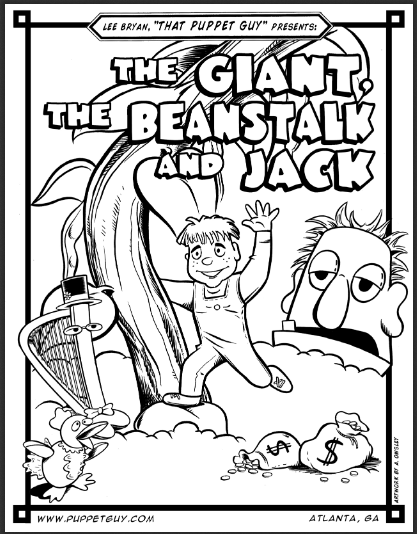 Coloring Page: The Giant, The Beanstalk & Jack