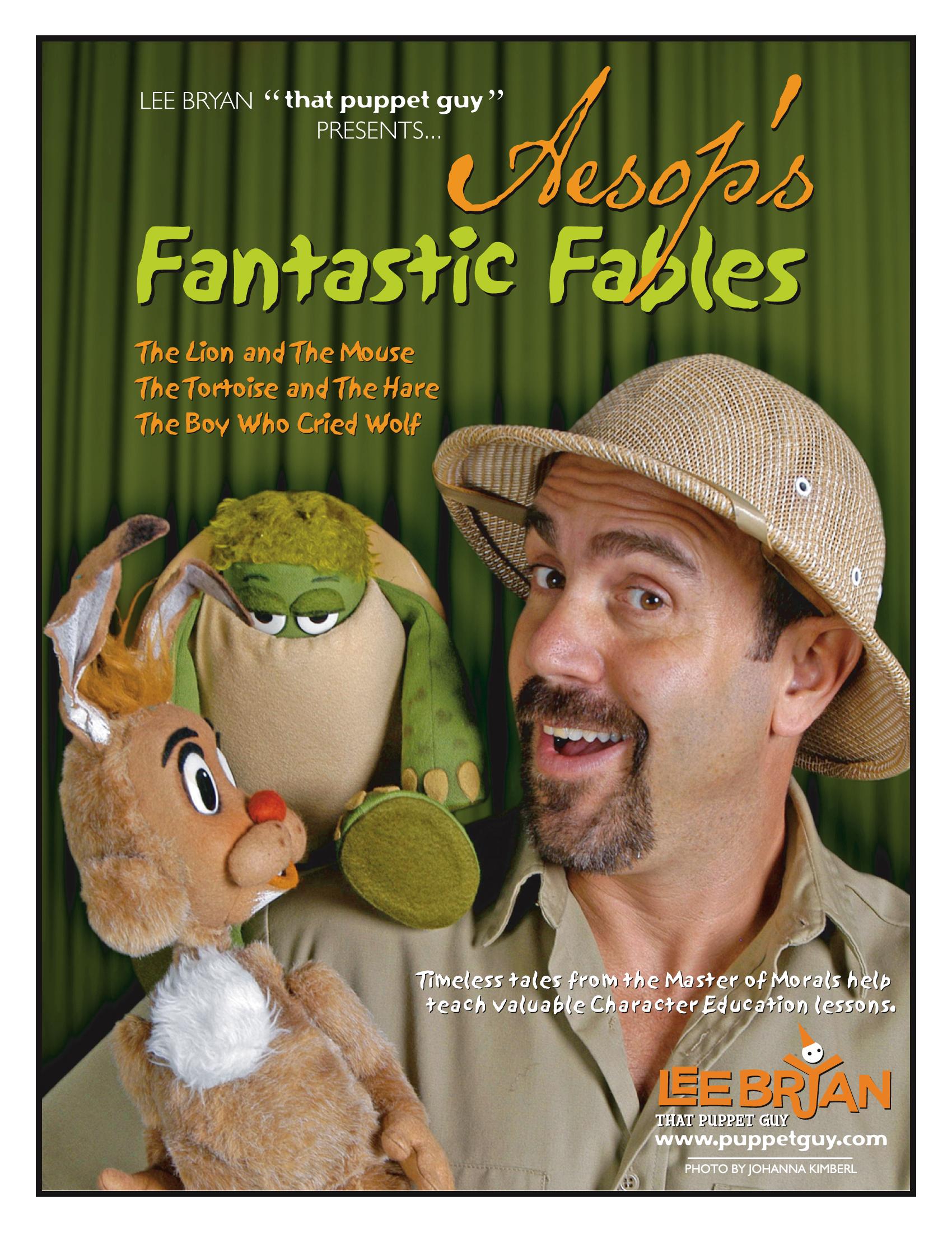 Publicity Slick Aesop's Fantastic Fables