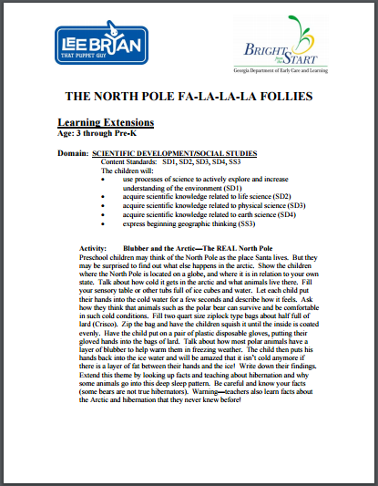 Bright From the Start Learning Extensions The North Pole Fa-La-La-La Follies
