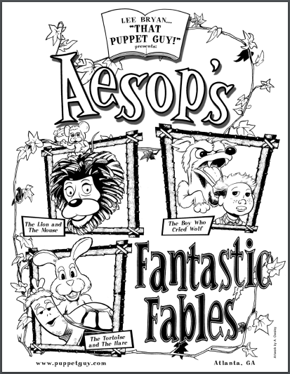 Coloring Page Aesop's Fantastic Fables