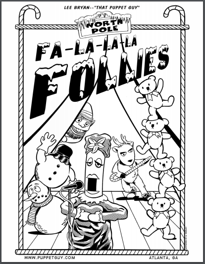 Coloring Page The North Pole Fa-La-La-La Follies