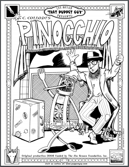 Coloring Page Pinnochio