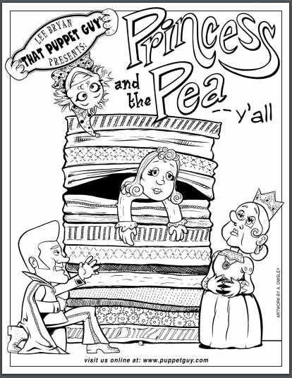 Coloring Page The Princess And The Pea Y'all