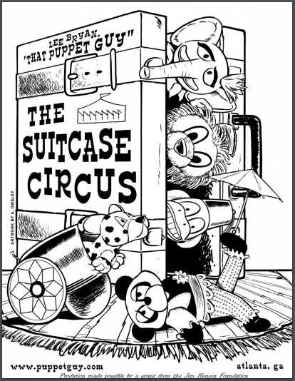 Coloring Page The Suitcase Circus