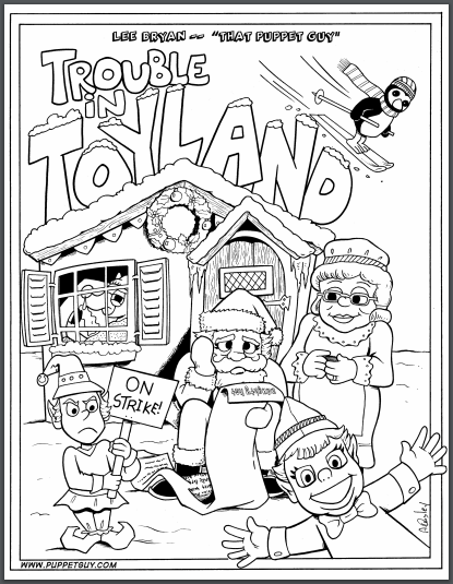 Coloring Page Trouble in Toyland