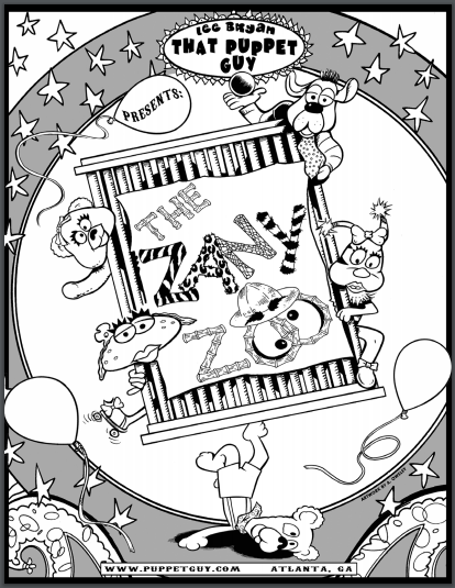 Coloring Page The Zany Zoo