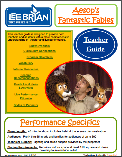Elementary School Teacher Guide Aesop's Fantastic Fables