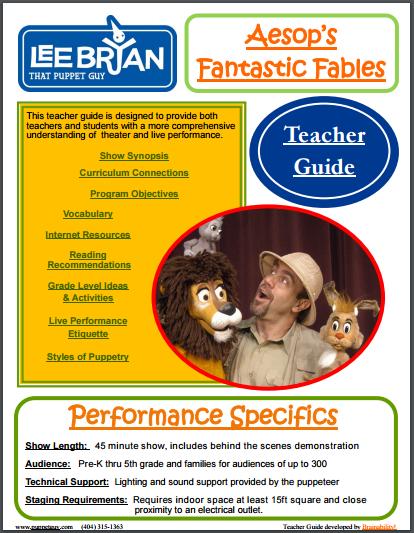 Elementary School Teacher Guide Aesop's Fantastic Fables