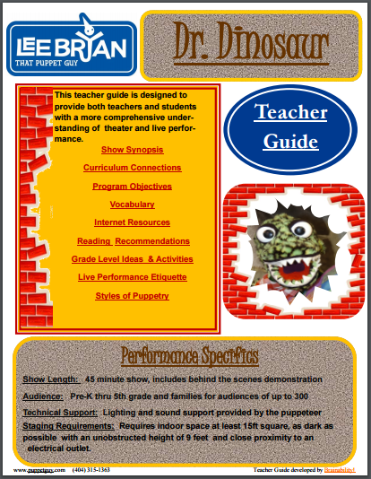 Elementary School Teacher Guide Dr. Dinosaur!