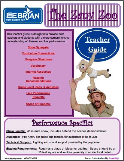 Elementary School Teacher Guide The Zany Zoo